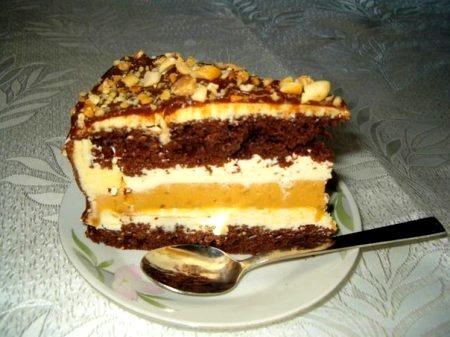 Торт сникерс» с фото